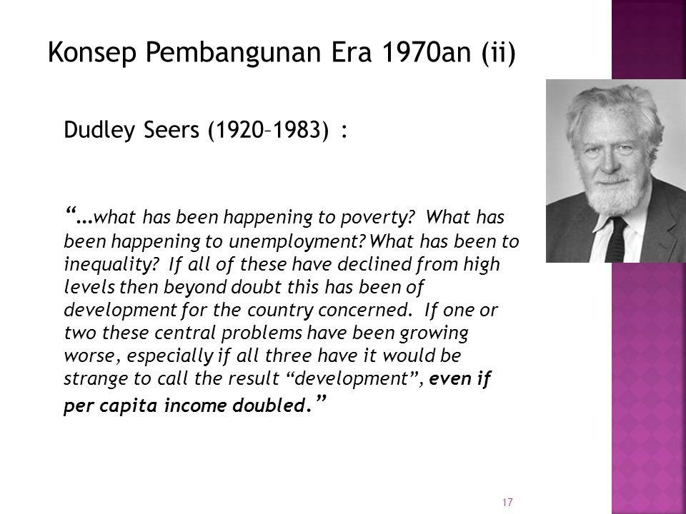 Konsep Pembangunan Era 1970an (ii)