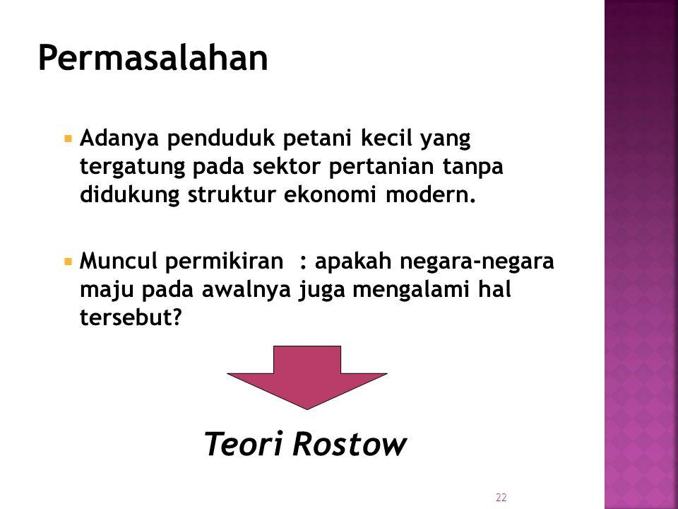 Permasalahan Teori Rostow