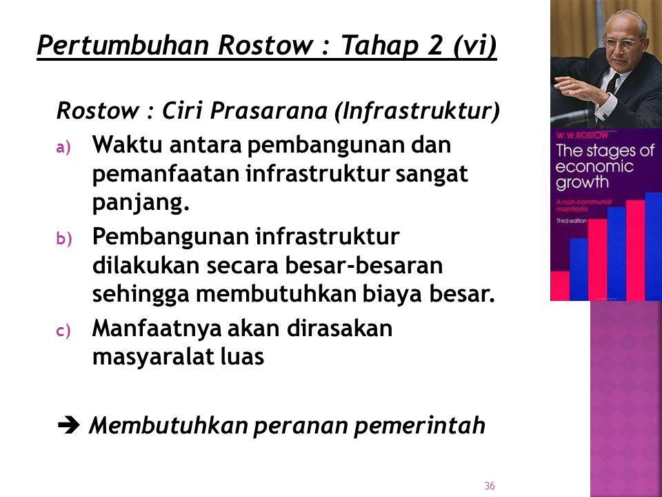 Pertumbuhan Rostow : Tahap 2 (vi)