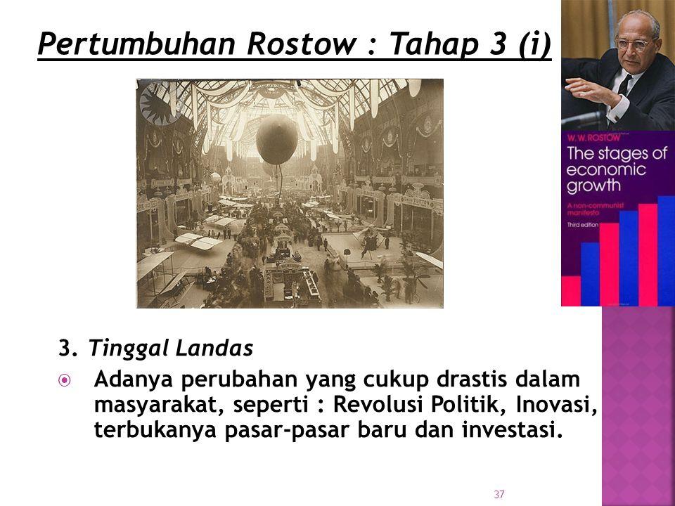 Pertumbuhan Rostow : Tahap 3 (i)