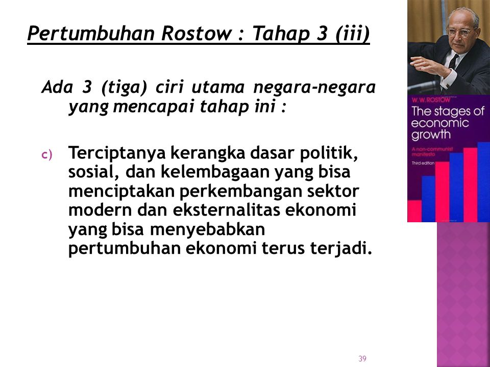 Pertumbuhan Rostow : Tahap 3 (iii)