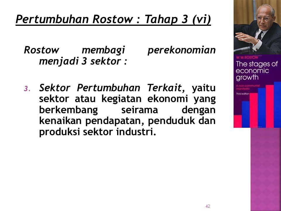 Pertumbuhan Rostow : Tahap 3 (vi)