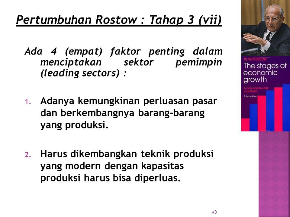 Pertumbuhan Rostow : Tahap 3 (vii)
