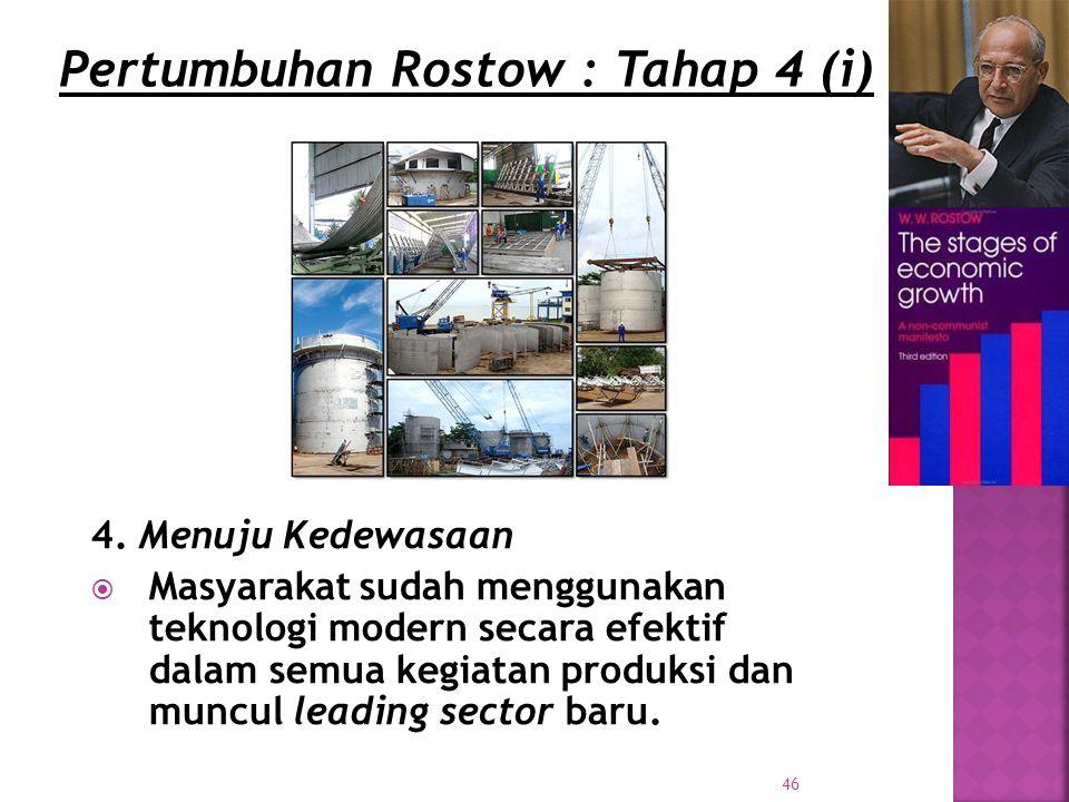 Pertumbuhan Rostow : Tahap 4 (i)