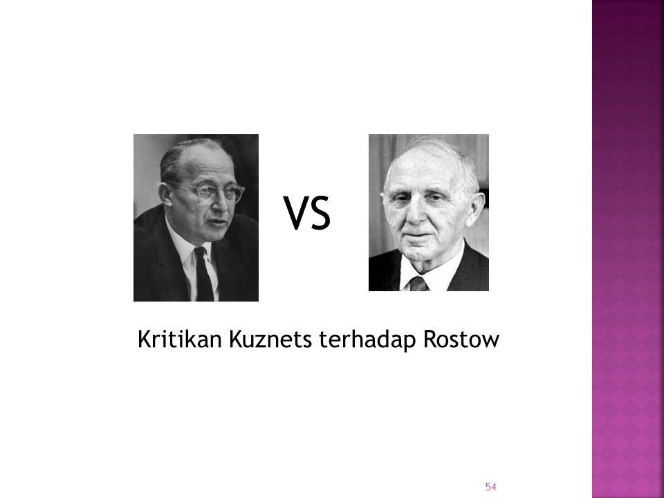 Kritikan Kuznets terhadap Rostow