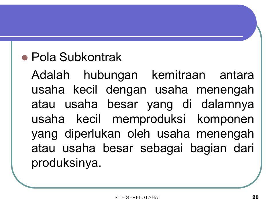 Pola Subkontrak