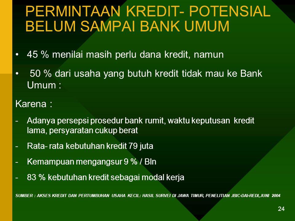 PERSYARATAN KREDIT BANK DAN KEADAAN DI USAHA KECIL