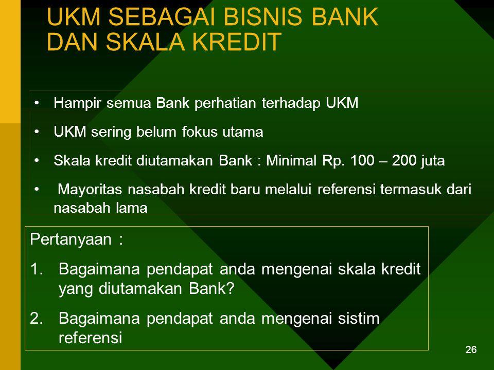 PROSES KREDIT DI BANK DAN PERSEPSI UKM