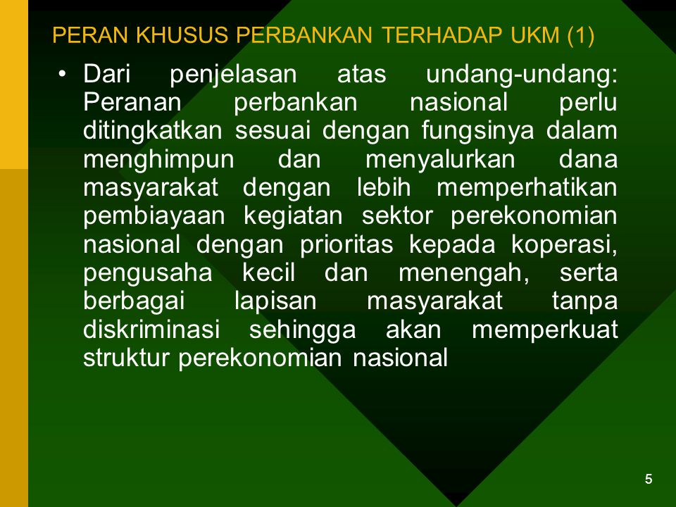 PERAN KHUSUS PERBANKAN TERHADAP UKM (2)