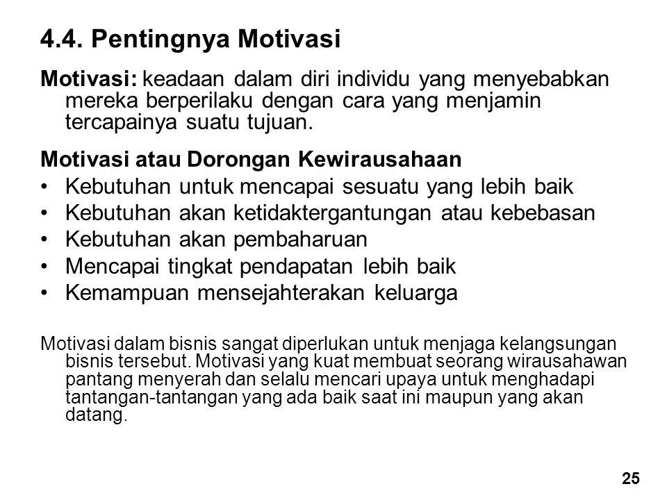 4.4. Pentingnya Motivasi