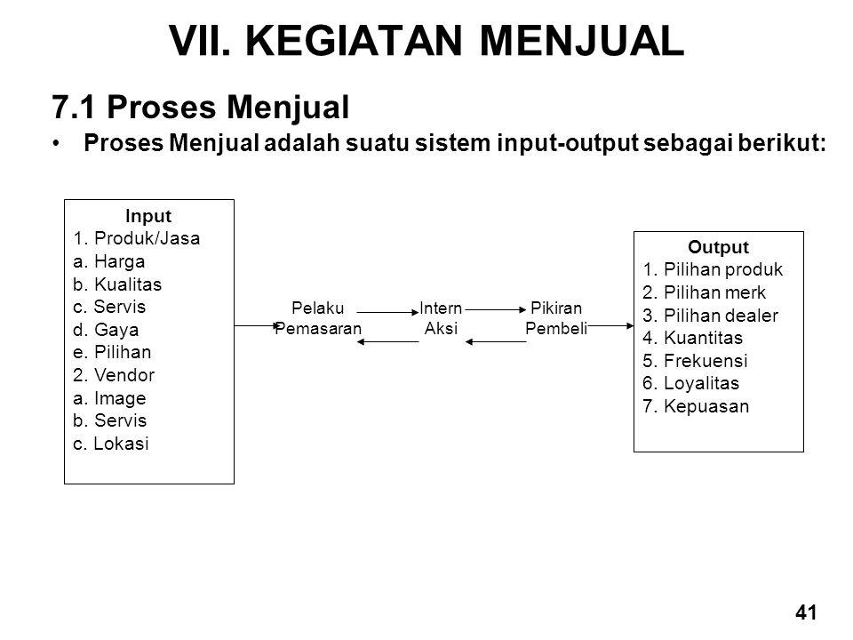 VII. KEGIATAN MENJUAL 7.1 Proses Menjual