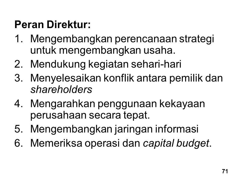Mengembangkan perencanaan strategi untuk mengembangkan usaha.