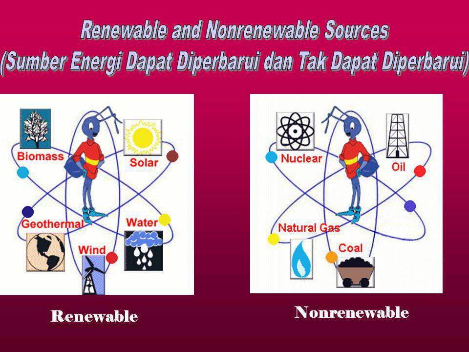 Renewable and Nonrenewable Sources