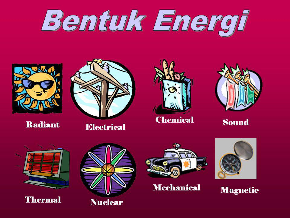 Bentuk Energi Chemical Sound Radiant Electrical Mechanical Magnetic