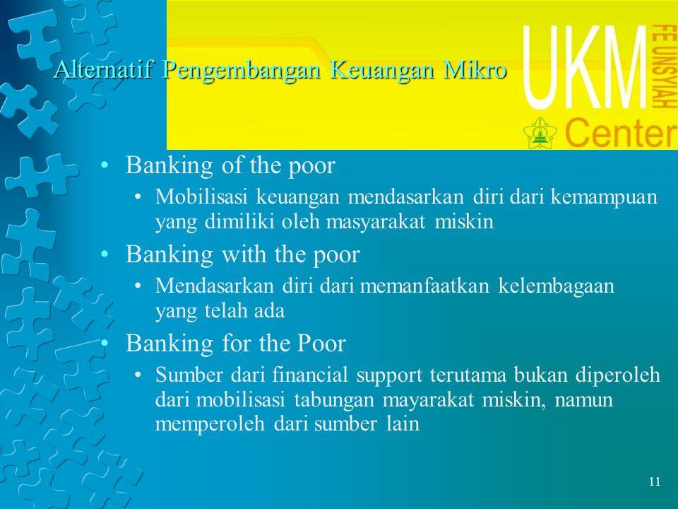 Alternatif Pengembangan Keuangan Mikro