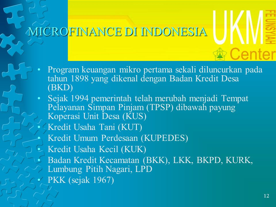 MICROFINANCE DI INDONESIA