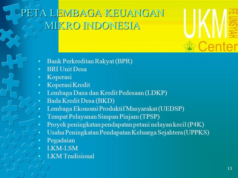 PETA LEMBAGA KEUANGAN MIKRO INDONESIA