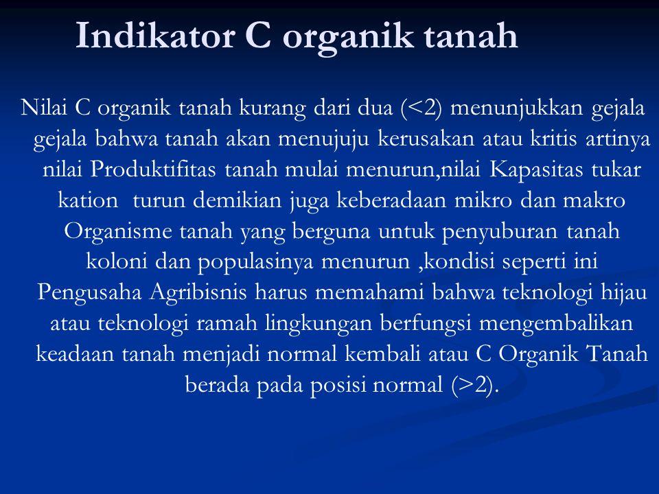 Indikator C organik tanah