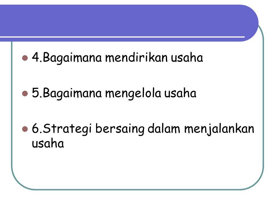 4.Bagaimana mendirikan usaha