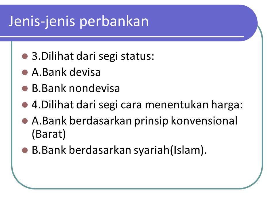 Jenis-jenis perbankan