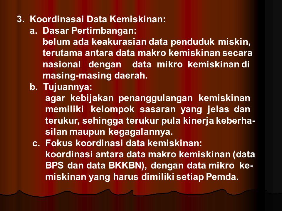 3. Koordinasai Data Kemiskinan: