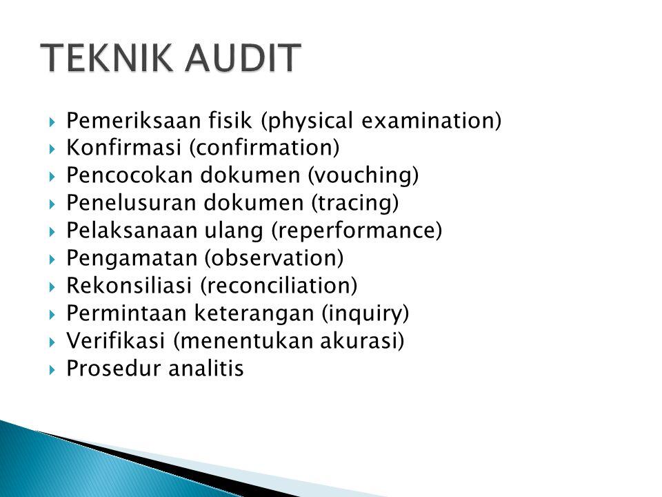 TEKNIK AUDIT Pemeriksaan fisik (physical examination)
