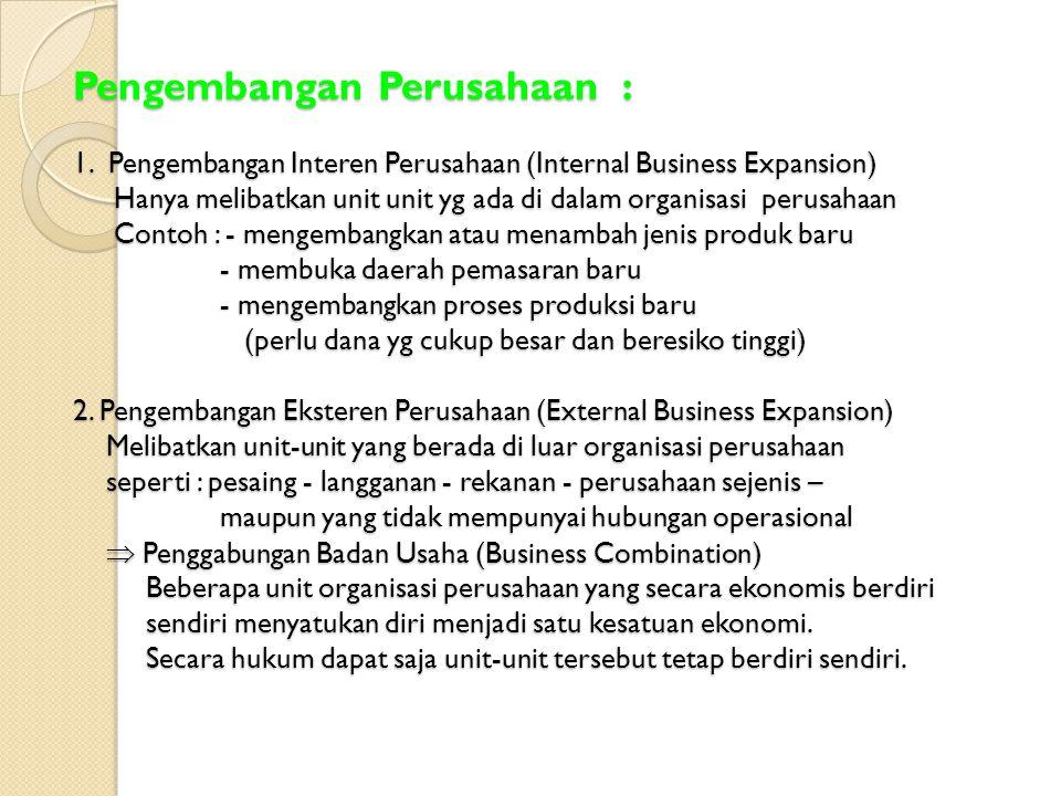 Pengembangan Perusahaan : 1
