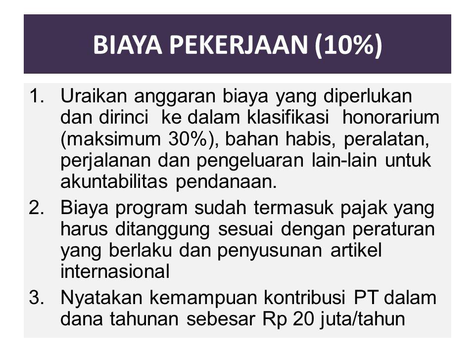 BIAYA PEKERJAAN (10%)