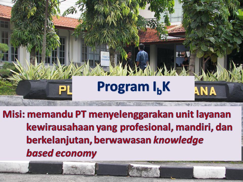 Program IbK Misi: memandu PT menyelenggarakan unit layanan