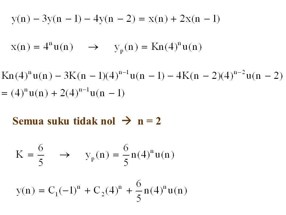 Semua suku tidak nol  n = 2