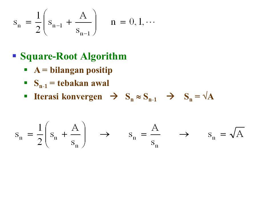 Square-Root Algorithm