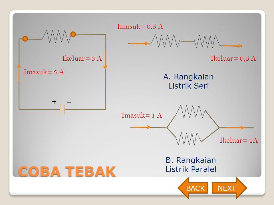 COBA TEBAK Imasuk= 0.5 A Ikeluar= 3 A Ikeluar= 0,5 A Imasuk= 3 A