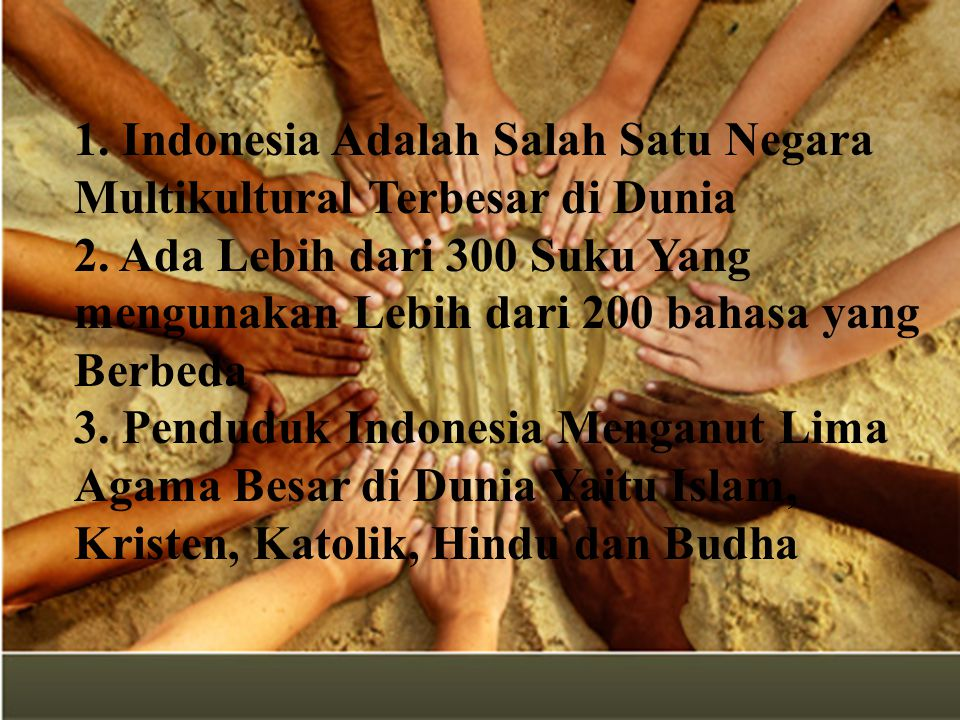 1. Indonesia Adalah Salah Satu Negara Multikultural Terbesar di Dunia