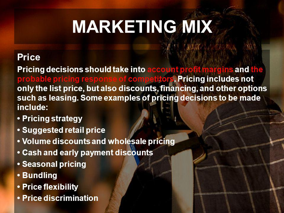 MARKETING MIX Price.