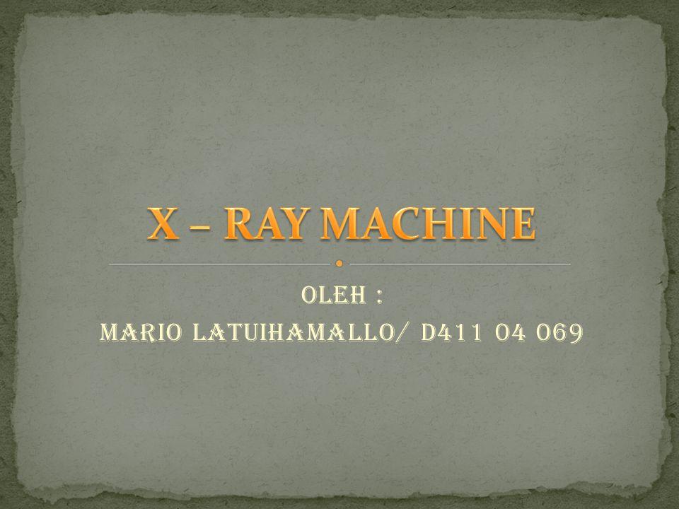 Oleh : Mario Latuihamallo/ D411 04 069