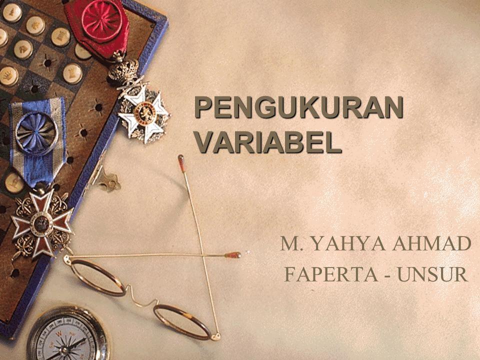 M. YAHYA AHMAD FAPERTA - UNSUR