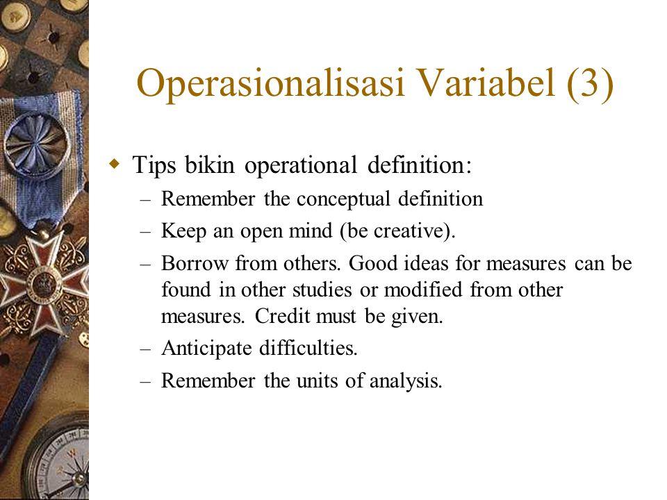 Operasionalisasi Variabel (3)