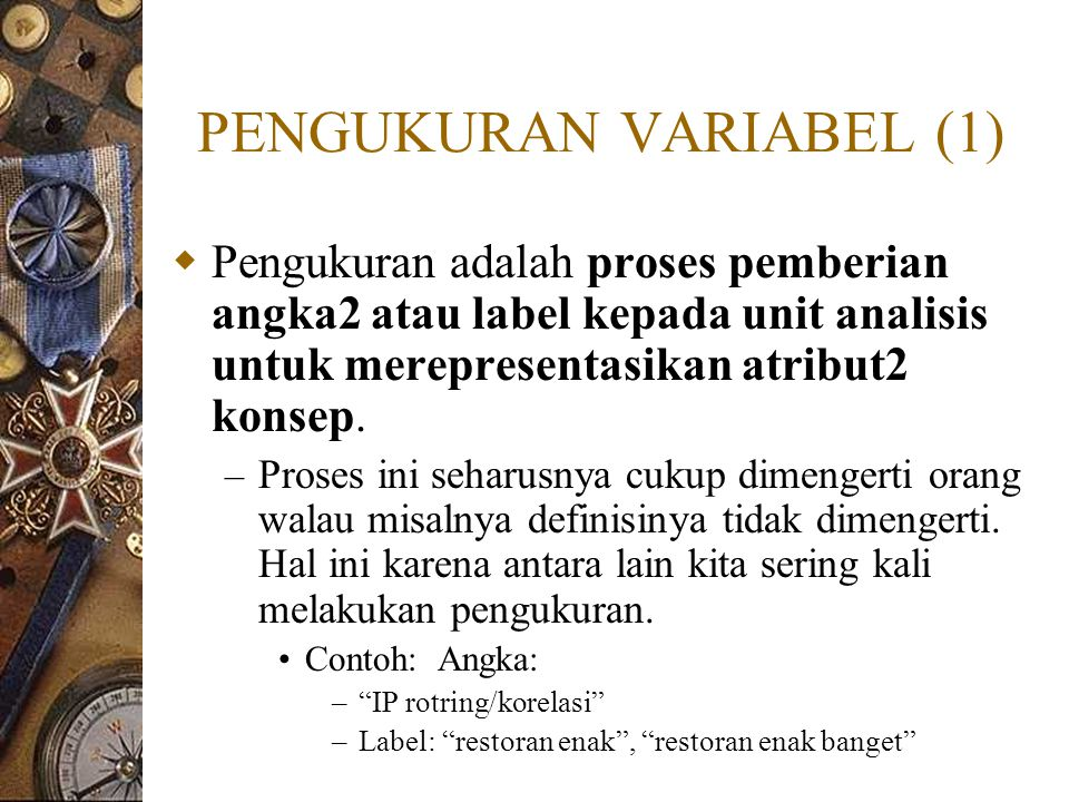 PENGUKURAN VARIABEL (1)