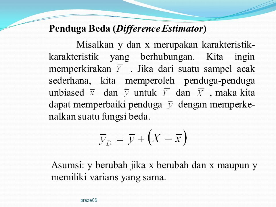 Penduga Beda (Difference Estimator)