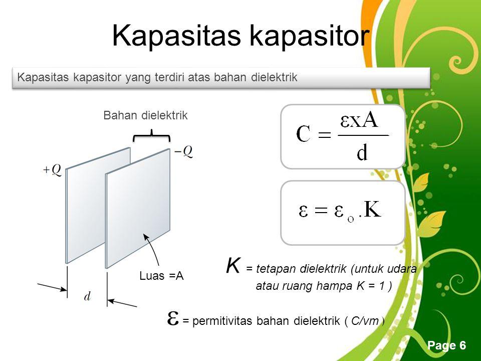  = permitivitas bahan dielektrik ( C/vm )