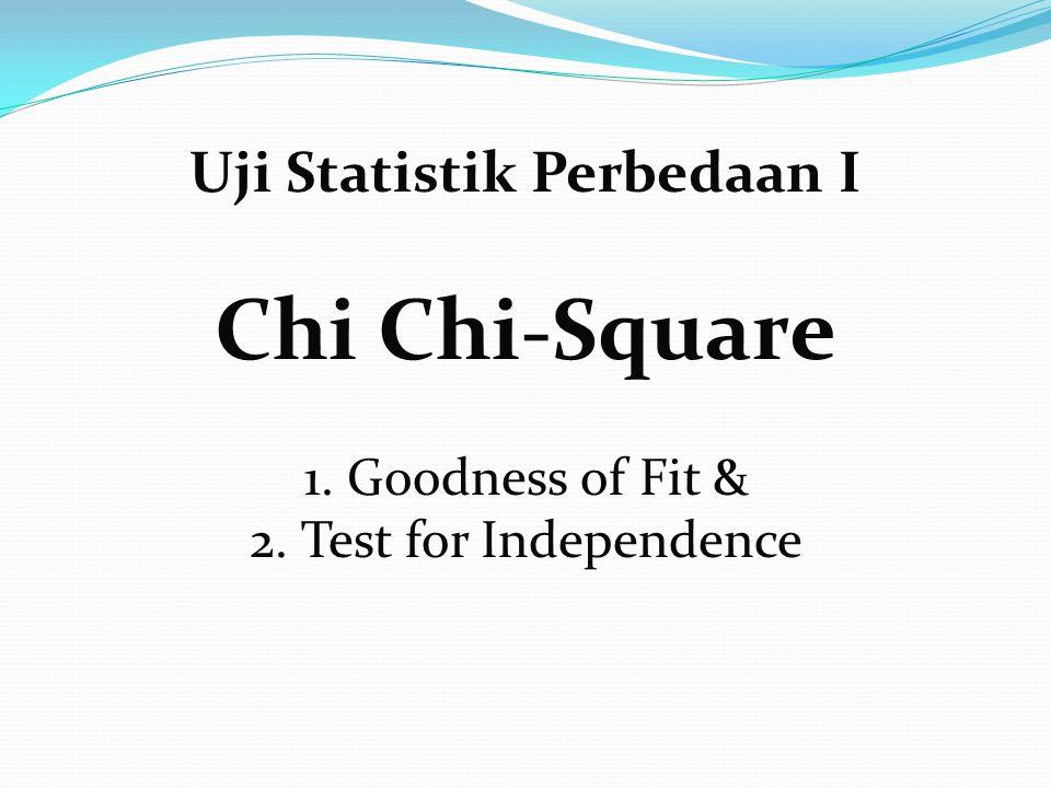 Uji Statistik Perbedaan I