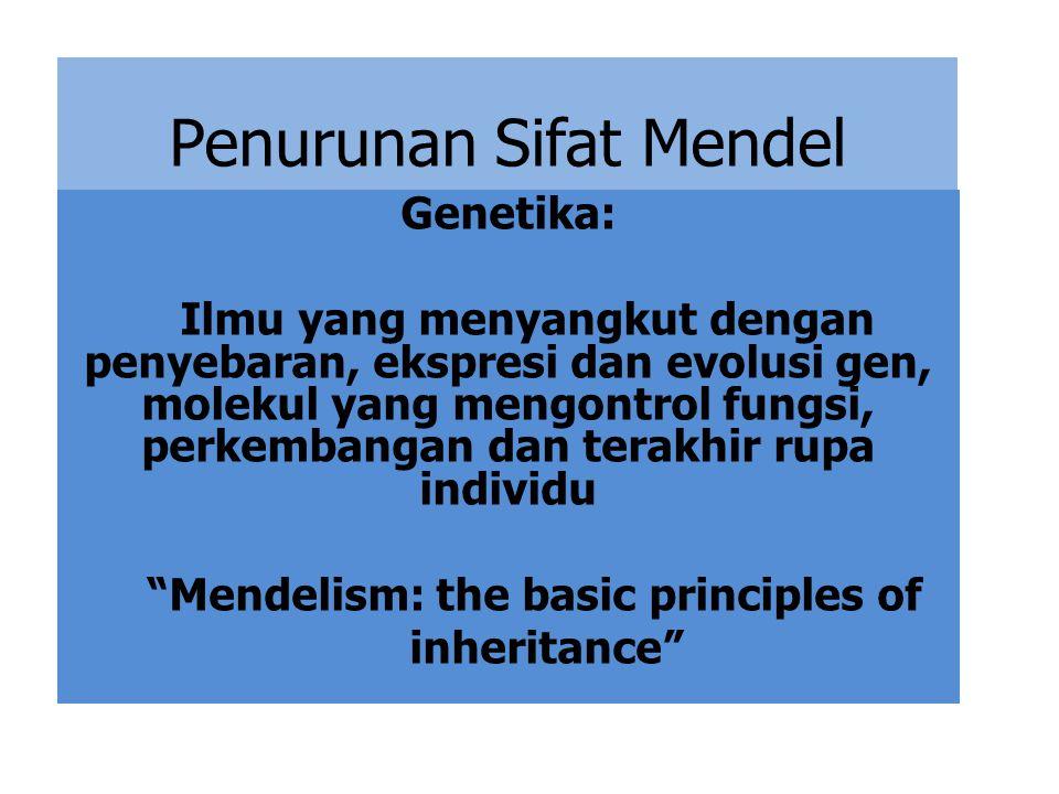 Penurunan Sifat Mendel