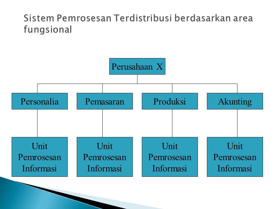 Sistem Pemrosesan Terdistribusi berdasarkan area fungsional
