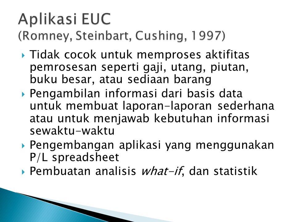 Aplikasi EUC (Romney, Steinbart, Cushing, 1997)