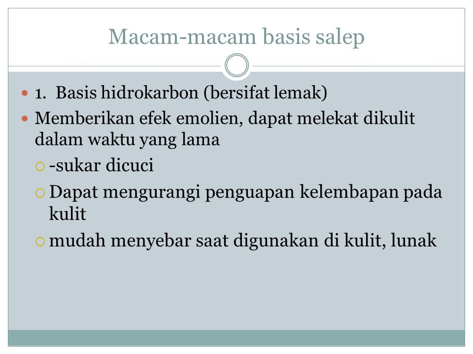 Macam-macam basis salep