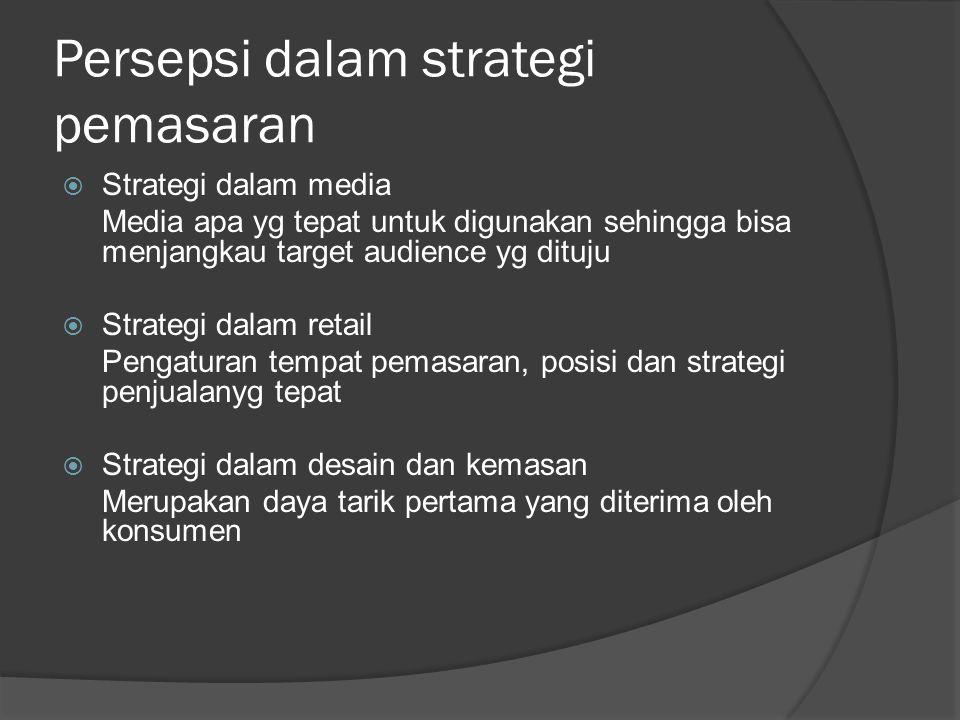 Persepsi dalam strategi pemasaran