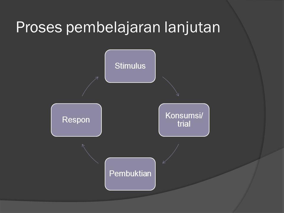 Proses pembelajaran lanjutan
