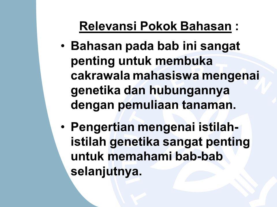Relevansi Pokok Bahasan :