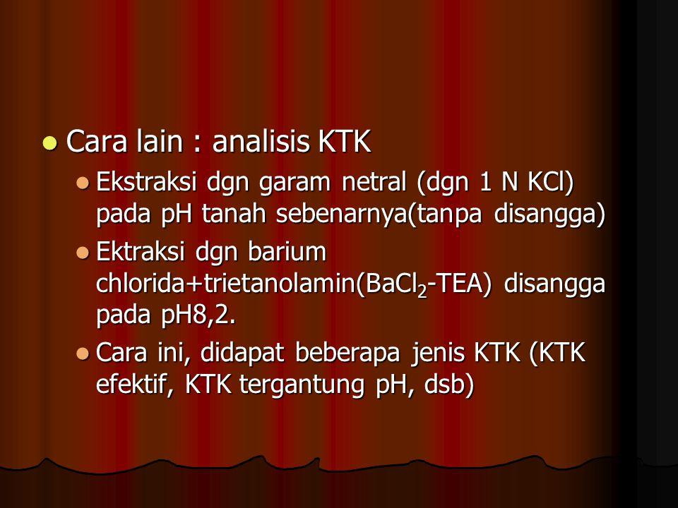 Cara lain : analisis KTK