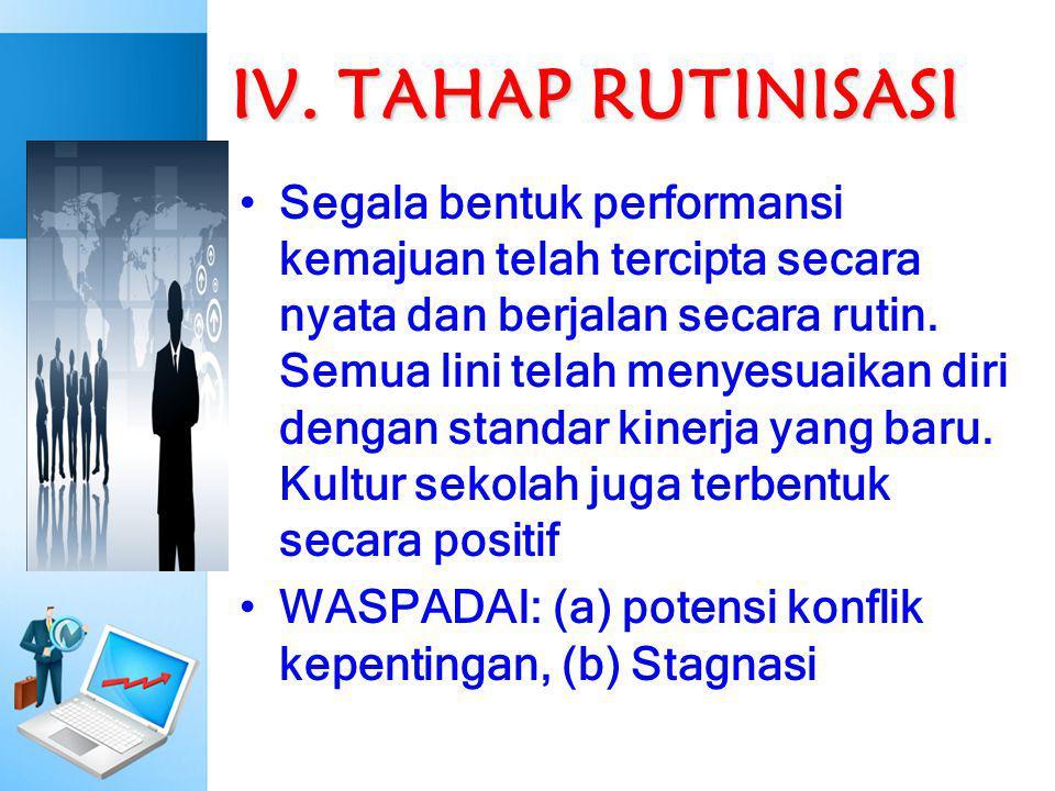 IV. TAHAP RUTINISASI